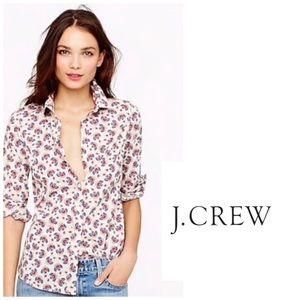 J. Crew Perfect Paisley Button Up Shirt